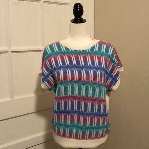 Vintage Patterned Sweater Vest